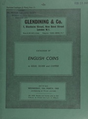 Catalogue of English coins, in gold, silver and copper, [including] an Ancient British Dobumni, COMUX stater, in red gold, obv., branched emblem; an Ireland, James II, rare set of four proof gun money crowns, 1690; ... [03/19/1969]