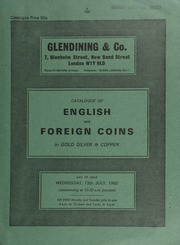 Catalogue of English and foreign coins, in gold, silver, & copper [including] a collection of milled sovereigns, [such as] a William IV, 1831 proof (S.3829);  ... [07/13/1983]