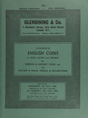 Catalogue of English coins, in gold, silver and bronze, [including] a collection of British coins, formed by Dr. G[eorge] H[illary] [Lanyon] Bullmore of Kingston; [also] Edward VI to Charles I halfcrowns and shillings from the Sheerness Hoard (1968) ... [07/09-10/1969]