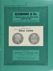 Catalogue of English milled gold, collected with the intention of securing an example of every obverse and reverse die in issues of guineas, sovereigns, and lower denominations ... [02/11/1976]