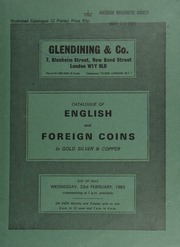 Catalogue of English and foreign coins, in gold, silver, & copper [including] a Scotland, Saltcoats, Spanish dollar, 1794, Mexico, countermarked on obv. SALTCOATS merchants within wreathed border;  ... [02/23/1983]
