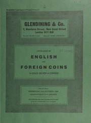 Catalogue of English and foreign coins, in gold, silver, & copper, [including] (2) British series B (Chute type) AV staters, from the Ringwood Hoard, 1982; an Elizabeth I, milled coinage, half pound,  ... [10/02/1985]