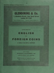 Catalogue of English and foreign coins, in gold, silver, & copper, [including] Irish coins, 17th-19th century tokens, a Russia, Peter the Great rouble; a James I, Thomas Sackville, counter, 1603; [and] a Death of Henry, Prince of Wales, 1612, counter; [etc.] ... [11/06/1985]