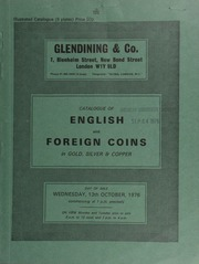 Catalogue of English and foreign coins, in gold, silver, and copper, [including] an Elizabeth I crown, 1601, sceptre points to I in REGINA; a Java, British Occupation, AV half-rupee, 1814;  ... [10/13/1976]