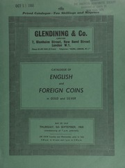 Catalogue of English and foreign coins, in gold and silver, [including] a Henry V noble, obv. quatrefoil over sail; a good collection of bronze pennies; as well as Montague's copper, tin and bronze coinage and patterns for coins, 1885; [etc.] ... [09/05/1968]