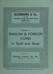 Catalogue of English & foreign coins, in gold and silver, [including] an important ancient gold pendant, oval, embossed with a three-quarter face left (possibly Alexander the Great, [or] Ares)  ... [11/19/1952]