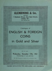 Catalogue of English & foreign coins, in gold and silver, [including] a collection of five guinea and five pound pieces; [also] a William and Mary five guineas piece, 1694;  ... [12/17/1952]