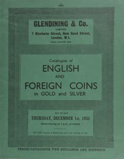 Catalogue of English and foreign coins, in gold and silver, including numerous coins of Charles I from the Weymouth and Salisbury mints, consigned by J. R[alph] Vincent; [etc.,] also cabinets, including a beautifully made leather coin carrying case, [with] six trays on runners ... [12/01/1955]