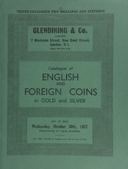 Catalogue of English and foreign coins, in gold and silver, [including] a Scotland, James VIII (the elder Pretender) pattern guinea, [withdrawn from sale]; [as well as] a Belgian Congo, Leopold II, pattern one franc and 50 centimes, 1896, struck in gold,  ... [10/30/1957]