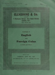 Catalogue of English and foreign coins, in gold and silver, [including] coins from most English monarchs, between Edward III and George VI; [as well as] Russia, Nicholas II, 25-roubles or 21/2 imperials, 1896;  ... [06/18/1959]