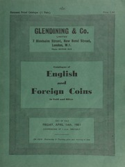 Catalogue of English and foreign coins, in gold and silver, including a new specimen of the Henry VIII Crown of the Rose (1526), ... only two other specimens having previously been recorded, ...[04/14/1961]