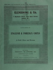 Catalogue of English & foreign coins, in gold, silver and bronze, [including] the Cromwell Tanner crown, 1658, struck in 1738 from new dies made by Tanner;  ... [09/18/1963]