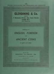 Catalogue of English, foreign and ancient coins, in gold and silver, [including] a gold naval reward, 1653, by T. Simon, ... [02/12/1964]