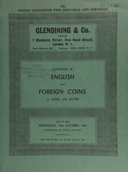 Catalogue of English and foreign coins, in gold and silver, [including] a Cromwell broad of 1656; a Charles I, Oxford triple unite, 1642; a Charles II five-guineas piece, 1677, pointed truncation;  ... [10/14/1964]