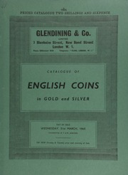 Catalogue of English coins, in gold and silver, [including] English gold, the property of a European collector, [containing] a Queen Mary, fine sovereign of fifty shillings, dated 1554;  ... [03/31/1965]