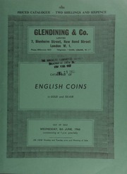Catalogue of English coins, in gold and silver, [including] an Ancient British, inscribed gold stater, Antedrigus, obv. branched emblem, rev. triple-tailed horse; a George III pattern two pounds, 1820, by Pistrucci,  ... [06/08/1966]