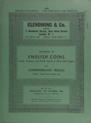 Catalogue of English coins, mostly patterns and proofs, struck in silver and copper, [including] 57 lots of George IV-Victoria copper coins from the C[harles] Wilson Peck collection; also commemorative medals, tokens, tickets and passes, etc.; ... [10/12/1966]