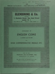 Catalogue of English coins, in gold and silver, [such as] an Edward VII five-pounds, matt-proof, 1902; [and] a George V, five-pounds, 1911, brilliant proof; also gold commemorative medals by Paul Vincze ... [11/10/1966]