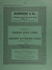 Catalogue of English gold coins, also ancient, [including] Roman and Byzantine gold; Roman Imperial large and middle brass, [and] Greek coins, [as well as] foreign coins, in gold, and silver ... [11/23/1966]