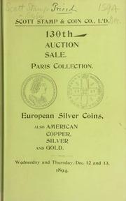 Catalogue of European silver coins ... [12/12/1894]