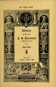 Catalogue of the famous library of the late J. B. Learmont ... [01/07/1918]