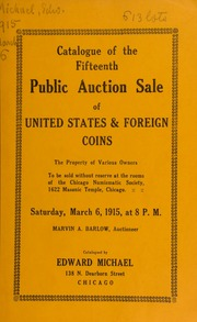 Catalogue of the fifteenth public auction sale of United States & foreign coins ... [03/06/1915]