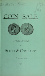 Catalogue of a fine collection of ancient coins, the property of L. Saalfelder ... [07/30/1878]