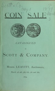 Catalogue of a fine collection of Greek, Hebrew, Roman, and other ancient coins ... [03/03/1879]