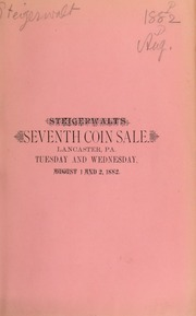 Catalogue of a fine collection of rare coins, American and foreign, medals, paper money, war envelopes ... [08/01/1882]