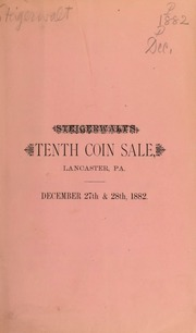Catalogue of a fine collection of United States gold, silver and copper coins ... [12/27/1882]
