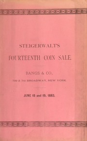 Catalogue of a fine collection of United States gold, silver, and copper coins ... [06/18/1883]