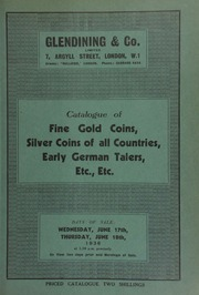 Catalogue of fine gold coins, silver coins of all countries, [and] early German talers, etc., etc., [including] the collections of the late J.H. Hodgkinson, Esq., Handsworth, Birmingham, the late Captain W.H. Bunbury, [and] the late J.H. Daniels, Esq.;  ... [06/17/1936]