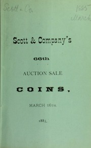 Catalogue of a fine and valuable collection of English coins ... [03/16/1885]