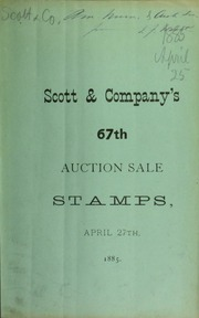 Catalogue of a fine and valuable collection of American and foreign postage stamps ... [04/27/1885]