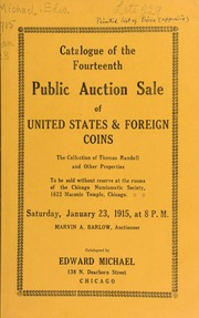 Catalogue of the fourteenth public auction sale of United States & foreign coins. [01/23/1915]