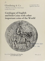 Catalogue of gold and silver coins of the world, including English hammered and milled coins, [containing a group of George III countermarks, et al., the property of F.R. Cooper], Irish hammered coins and a good series of gun money, ... [03/24-25/1976]