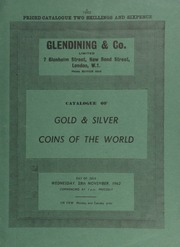 Catalogue of gold & silver coins of the world, [including] an Elizabeth I, sovereign of 20 shillings, profile portrait to left with richly ornamented dress; a William & Mary five guineas piece, 1691; ... [11/28/1962]