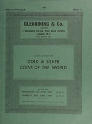 Catalogue of gold & silver coins of the world, [including] an Edward IV London rose noble, sun on reverse only; a Cromwell broad, 1656; [and] a William III five-guineas piece, 1701,  ... [06/26-27/1963]