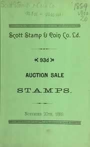 Catalogue of a good collection of postage stamps, the property of Charles S. Wilcox ... [11/20/1889]