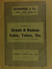 Catalogue of Greek & Roman coins, talers, etc., the property of the late J.N.G. Wallworth, [containing] a Philip V of Spain Quadruple, 1721; [and] a Coronation set of gold coins, Edward VII, 1902, [etc.] ... [01/28/1943]