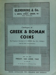 Catalogue of Greek and Roman coins, the property of the late C.H. Greene, Esq., M.A., F.R.Hist.S., (sold by order of the executors), and containing bronze coins and Roman sestertii, [etc.] ... [06/18/1943]
