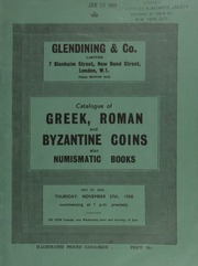 Catalogue of Greek, Roman and Byzantine coins, also numismatic books, [containing] duplicates from a foreign collection, [Dumbarton Oaks] ... [11/27/1958]