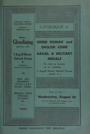 Catalogue of Greek, Roman and English coins, naval and military medals, [including] a unique group of three decorations awarded to Sir William Carroll, K.C.B., Rear Admiral, [and] the property of a South African collector ... [08/01/1934]