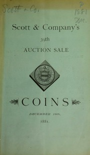 Catalogue of the Hawaiian collection of American and foreign coins ... [12/19/1881]
