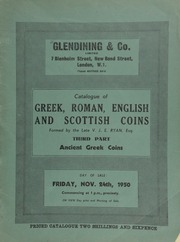 Catalogue of the important collection of Greek, Roman, English, and Scottish coins, formed by the late V.J.E. Ryan, Esq. : Third part : Ancient Greek coins ... [11/24/1950]