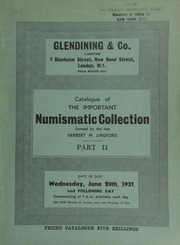 Catalogue of the important numismatic collection formed by the late Herbert M. Lingford : Part II : The gold, silver, and copper issues of James VI of Scotland and James I of England ... [Catalogued by A.H.F. Baldwin] ... [06/20/1951]