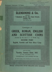 Catalogue of the important collection of Greek, Roman, English, and Scottish coins, formed by the late V.J.E. Ryan, Esq. : Second part : English, Scottish and Irish silver coins ... [Catalogued by A.H.F. Baldwin] ... [01/22/1952]