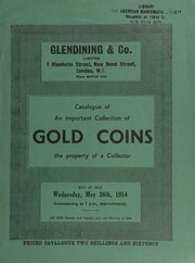Catalogue of an important collection of gold coins, the property of a collector ... [05/26/1954]