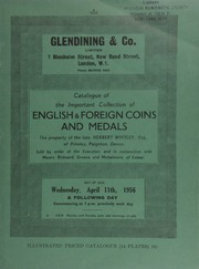 Catalogue of the important collection of English gold, British, Commonwealth and foreign silver coins, including especially English two guineas, English crowns & florins, the property of the late Herbert Whitley, Esq.,  ... [04/11/1956]