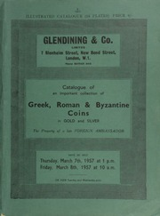 Catalogue of an important collection of Greek, Roman, and Byzantine coins, in gold and silver, the property of a late foreign ambassador ... [03/07-08/1957]